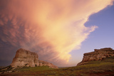 Clouds Hoover over Courthouse and Jail Rocks