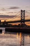 Philadelphia's Benjamin Franklin Bridge Spanning the Delaware River