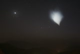 A Bright White Patch of Rocket Fuel Dumped into the Atmosphere by an Atlas V Rocket