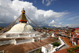 View of Boudhanath Stupa from One of the Many Rooftop Restaurants Surrounding It