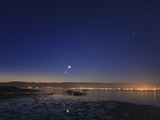 Venus and Jupiter  Shine Brightly in the East at Dawn  Near a Wildlife Refuge on the Caspian Sea