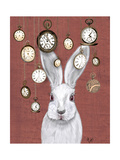 Rabbit Time Reproduction d'art par Fab Funky