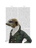 Dandy Meerkat Portrait Reproduction d'art par Fab Funky
