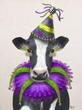 Mardi Gras Cow Reproduction d'art par Fab Funky