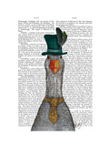 Goose in Green Hat Reproduction d'art par Fab Funky