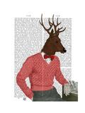 Deer at the Bar Reproduction d'art par Fab Funky