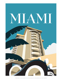 Miami - Dave Thompson Contemporary Travel Print