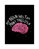 My Brain - Katie Abey Cartoon Print