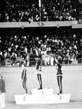 1968 Olympic Games  Mexiko City  Mens 200 M  Tommie Smith  USA  Gold  and J  Carlos  Bronze