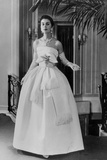 White Evening Dress by Dior  February 1958