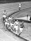 Olympic Games 1952 : Emil Zatopek in the Lead During 5000 M Race July 25  1952