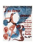 Affiche De Spectacle : J'Ai Deux Amours  Chanté Par Josephine Baker