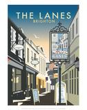 The Lanes  Brighton - Dave Thompson Contemporary Travel Print