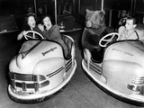 Brown Bear of Bertram Mills Circus in Bumper Cars Dodgems December 15  1954