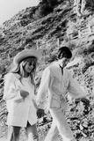 Singers Mick Jagger and Marianne Faithfull in San Remo January 29  1967