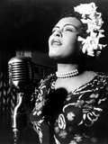 Jazz and Blues Singer Billie Holiday (1915-1959) in the 40's Reproduction d'art