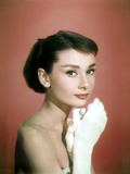 Portrait of the American Actress Audrey Hepburn  Photo for Promotion of Film Sabrina  1954