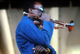 Miles Davis  American Composer and Jazz Trumpet Player  Newport Jazz Festival July 4 1969