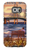 Mackinac Bridge and Sunset  Michigan