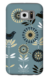 Graphic Birds and Flowers