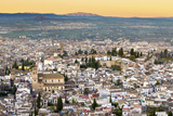 Cityscape of Granada Including the Iglesia Del Salvador  Granada  Andalucia  Spain