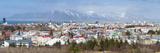 Panoramic View across the City of Reykjavik  Iceland  Polar Regions
