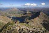 View from Summit of Snowdon to Llyn Llydaw and Y Lliwedd Ridge