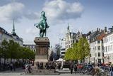 View over Hojbro Plads  Copenhagen  Denmark  Scandinavia  Europe