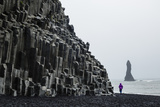 Basalt Columns at the Beach  Vik I Myrdal  Iceland  Polar Regions