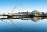 Samuel Beckett Bridge over the River Liffey  Dublin  County Dublin  Republic of Ireland  Europe