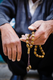 Hands Holding Worry Beads  Bethlehem  West Bank  Palestine Territories  Israel  Middle East