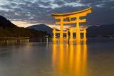 The Floating Miyajima Torii Gate of Itsukushima Shrine at Dusk