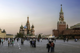 St Basils Cathedral and the Kremlin in Red Square  Moscow  Russia