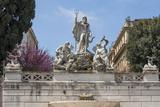 Neptune Fountain in Piazza Del Popolo  Rome  Lazio  Italy