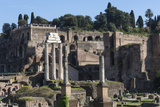 Ancient Roman Forum and the Three Columns of Temple of Castor and Pollux  Rome  Lazio  Italy