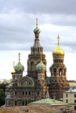 Domes of Church of the Saviour on Spilled Blood  St Petersburg  Russia