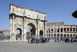 Arch of Constantine (Arco Di Costantino) and the Colosseum  Rome  Lazio  Italy