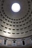 Interior View of the Cupola Inside the Pantheon  Piazza Della Rotonda  Rome  Lazio  Italy