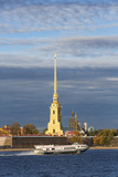 Peter and Paul Fortress on Neva Riverside  St Petersburg  Russia