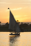 Felucca on the Nile River  Luxor  Egypt  North Africa  Africa