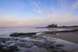 Bamburgh Castle at Dusk  Northumberland  England  United Kingdom  Europe
