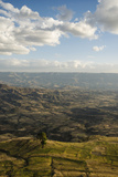 View of Landscape from Ashen Maria Monastery at Dusk  Lalibela  Ethiopia  East Africa  Africa