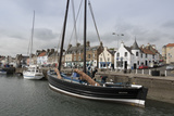 Sailing Herring Drifter Moored in Harbour  Anstruther  Fife Coast  Scotland  United Kingdom