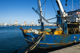 Fishing Boat in the Habour of the City of Rhodes  Rhodes  Dodecanese Islands  Greek Islands  Greece