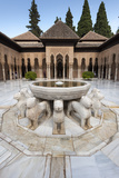 Court of the Lions  Alhambra  Granada  Province of Granada  Andalusia  Spain
