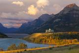 The Prince of Wales Hotel at Sunrise  Waterton Lakes National Park  Alberta  Canada  North America