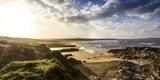 Sunrise at Gwithian Beach  Cornwall  England  United Kingdom