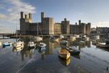 Caernarfon Castle Unesco World Heritage Site  on the River Seiont