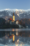 The Assumption of Mary Pilgrimage Church on Lake Bled  Bled  Slovenia  Europe