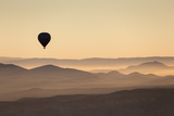 Single Hot Air Balloon over a Misty Dawn Sky  Cappadocia  Anatolia  Turkey  Asia Minor  Eurasia